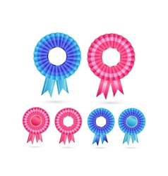 Blank rosette seal set vector