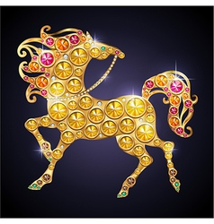 Golden horse vector