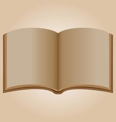 Old open book vector