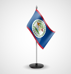 Table flag of belize vector