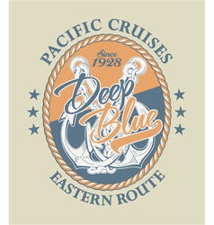 Deep blue pacific cruises vector