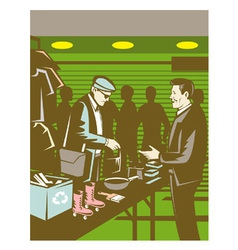 Flea market selling trading retro vector