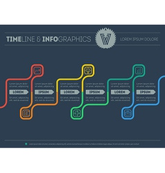 Diagram of tendencies and trends infographic vector