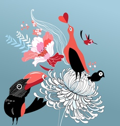 Bird lovers vector
