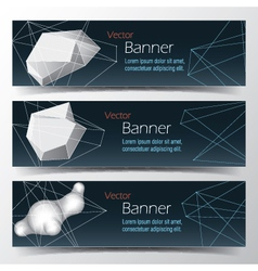 Geometrical banner set abstract background vector
