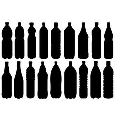 Set of different bottles vector