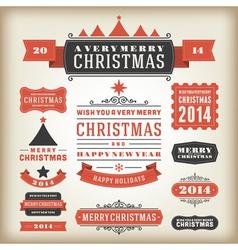 Christmas decoration design elements vector