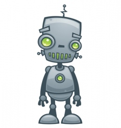 Happy robot vector
