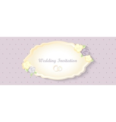 Wedding invitation card classic romantic design vector