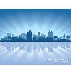 Port elizabeth africa city skyline silhouette vector