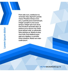 Page template gray triangle blue line layout vector