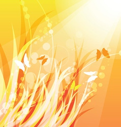 Warm nature background vector