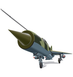 Old jet fighter vector