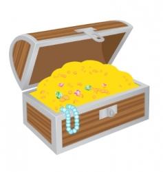 Chest of treasures vector