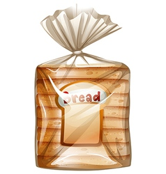 A pack of sliced bread vector