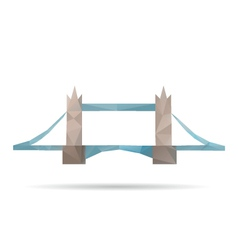 Tower bridge abstract isolated vector