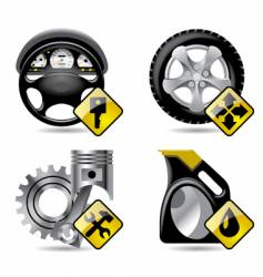 Automobile service icons vector