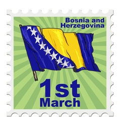 National day of bosnia and herzegovina vector