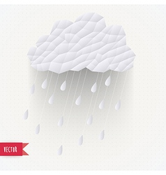 Retro cloud with rain symbol hipster background vector
