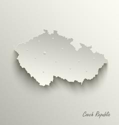 Abstract map czech republic template vector
