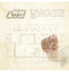 Human hand pointing architecture vector