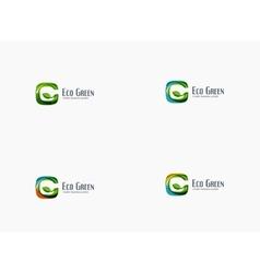 Modern g letter green eco concept company logo vector