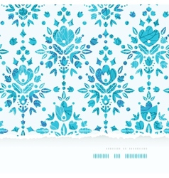 Abstract flower damask horizontal torn seamless vector