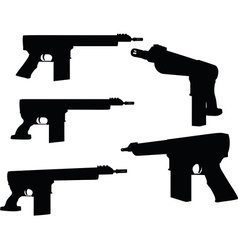 Firearm silhouette vector