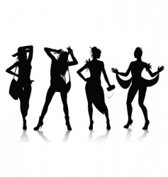 Fashion model silhouettes vector