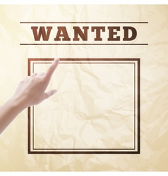 Wanted sign vector