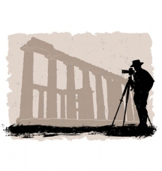 Photographer with historical vector