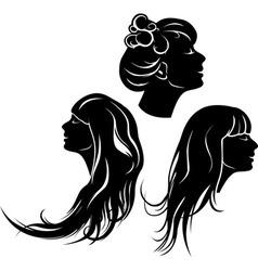 Beautiful girl profile vector