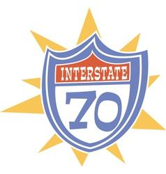 Interstate retro sign vector