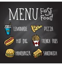 Fast food chalkboard vector