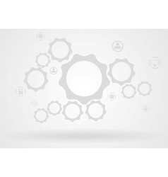 Abstract background with gears and icons vector