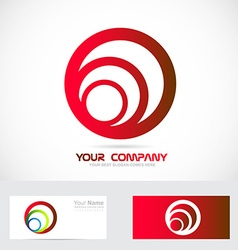 Red circle business logo vector