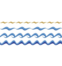 Seamless wavy borders vector