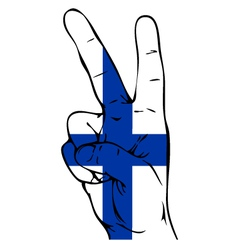 Peace sign of the finnish flag vector