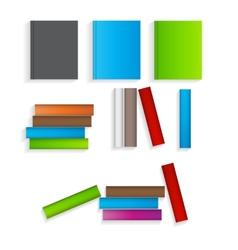 Books flat icons set vector