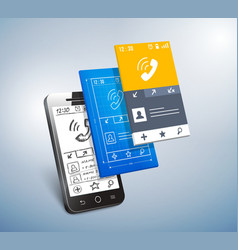 Mobile development vector