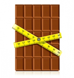 Chocolate with measure tape vector