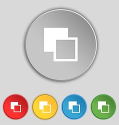 Active color toolbar icon sign symbol on five flat vector