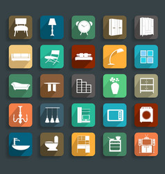 Furniture flat icons vector