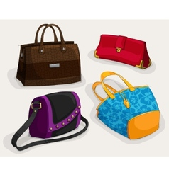 Fashion womans bags collection vector
