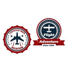 Aviation and flight symbols vector