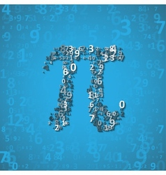 The mathematical constant pi vector