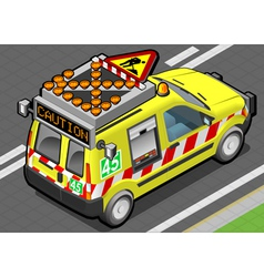 Isometric roadside assistance van vector
