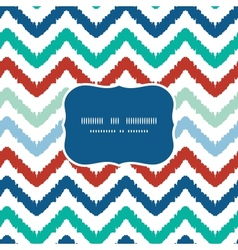 Colorful ikat chevron frame seamless pattern vector