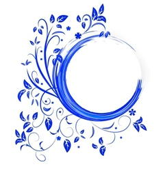 Abstract banner with curls of blue color vector