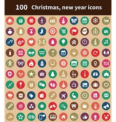 100 new year icons vector